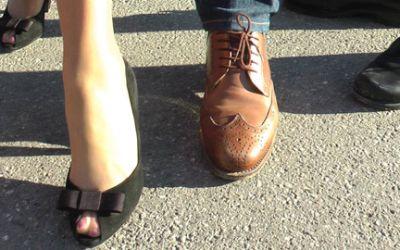 Umfrage zu Wiesn-Schuhen auf dem Oktoberfest