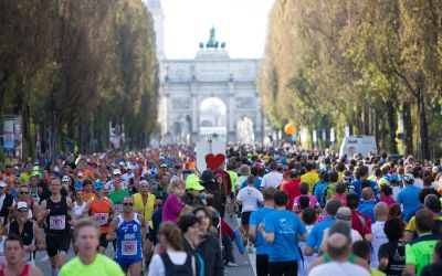 München Marathon auf der Leopoldstraße
