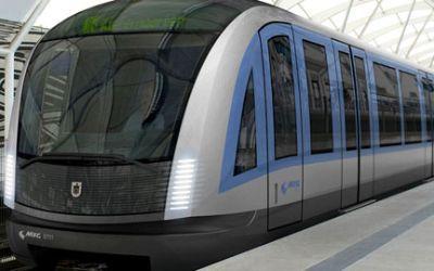 Eine neue U-Bahn in München.