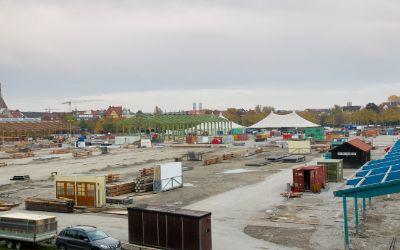 Oktoberfest-Abbau und Tollwood-Aufbau auf der Theresienwiese