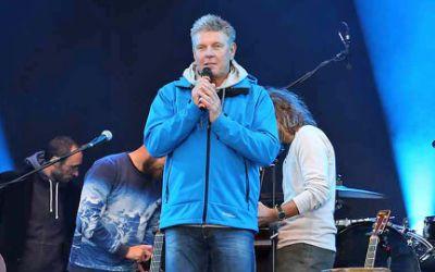 Oberbürgermeister Dieter Reiter beim Danke-Konzert am Königsplatz am 11.10.2015
