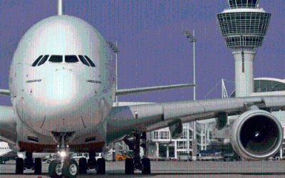 Die A 380 der Emirates