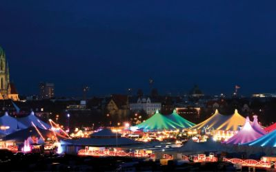 Tollwood-Winterfestival: Panorama der Theresienwiese