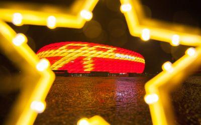 Weihnachtliche Allianz Arena