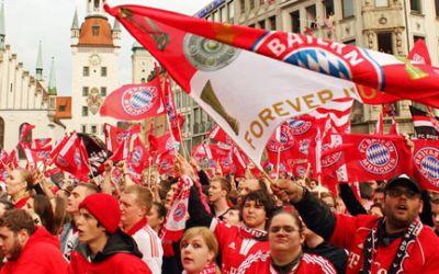 Meisterfeier des FC Bayern München am Marienplatz