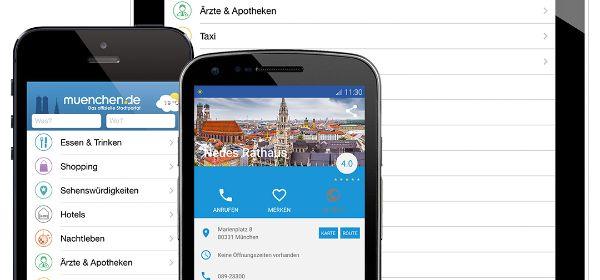 Die München App gibt es für Android Smartphones & Tabletts, iPhone und iPad.