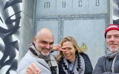 Eröffnung des MUCA Museums für Urban Art und Street Art mit Christian und Stephanie Utz und dem Künstler Stohead