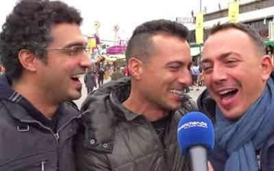 Italienische Besucher haben Spaß am Italienerwochenende