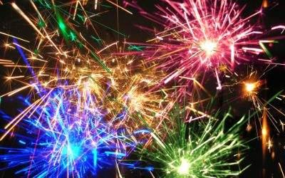 Buntes Feuerwerk in der Muffathalle