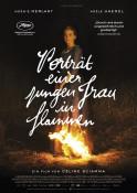 Porträt einer jungen Frau in Flammen - Kinoplakat