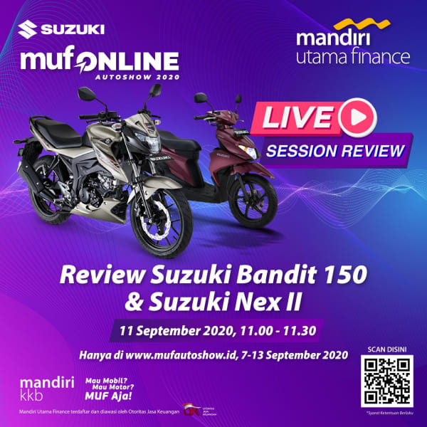 Review Suzuki Bandit 150 dan Suzuki NEX II