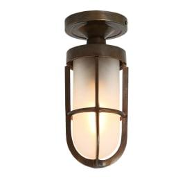 Oregon B Well Glass Ceiling Light Ip65 Mullan Lighting