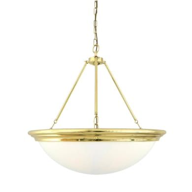 Athlone Traditional Dome Opal Glass Chandelier