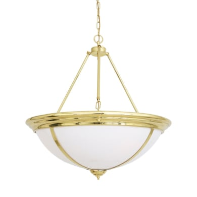 Dunleer Traditional Brass and Opal Dome Chandelier