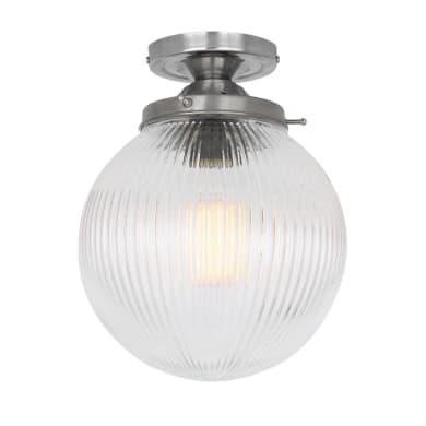 Stanley Holophane globe ceiling light 20cm