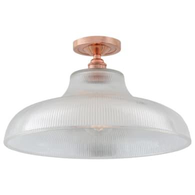 Mono industrial railway flush ceiling light 40cm