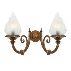 Darwin two-arm wall light