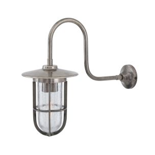 Fabo Wall Light Antique Silver Crackled Glass