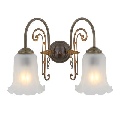 Medan two-arm wall light