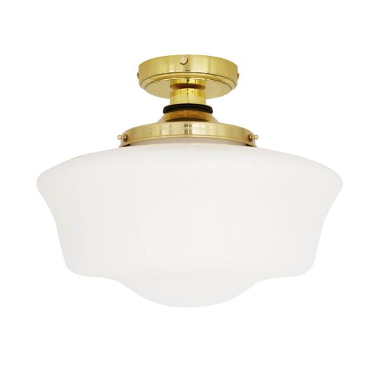 Anath Outdoor Ceiling Light Polished Brass