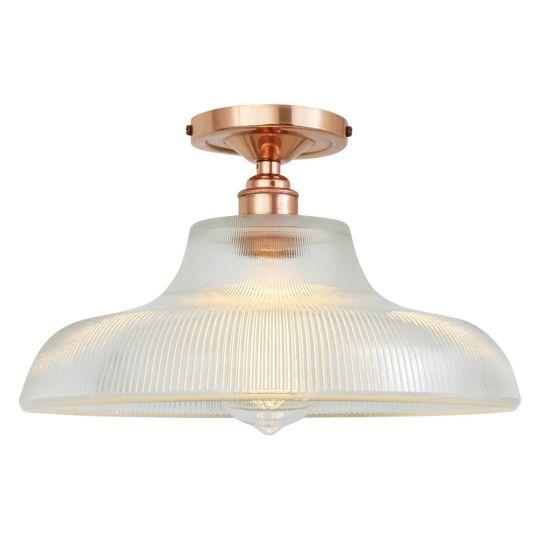 Mono 30cm Ceiling Light Polished Copper