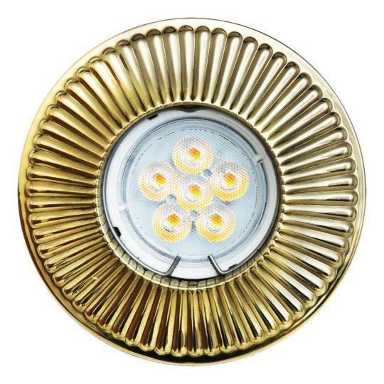 Penh recessed decorative brass spot light