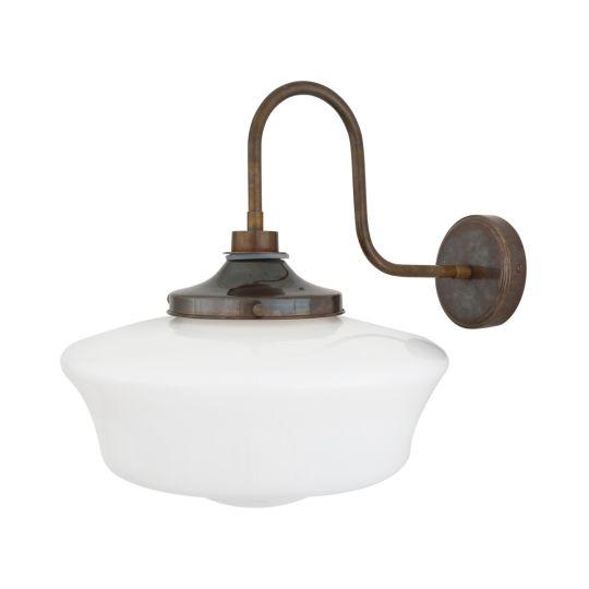 Anath Schoolhouse Swan Neck Bathroom Wall Light IP44