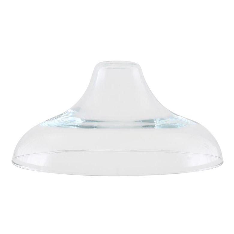 Clear Railway Glass Lamp Shade 37cm