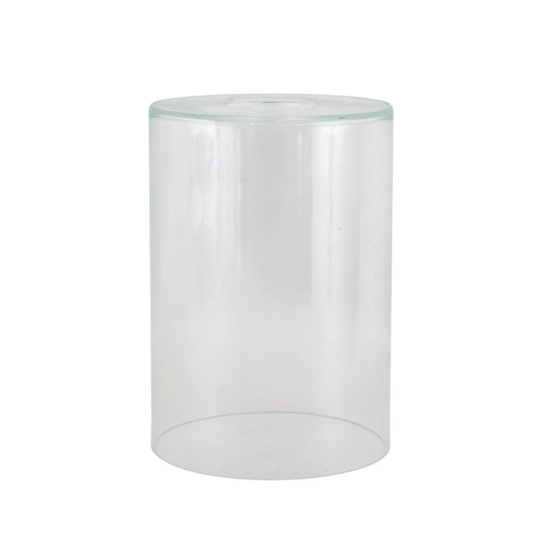 Cylinder clear glass lamp shade 14cm