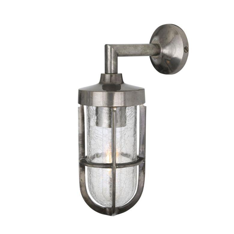 Cladach brass well glass wall light IP65