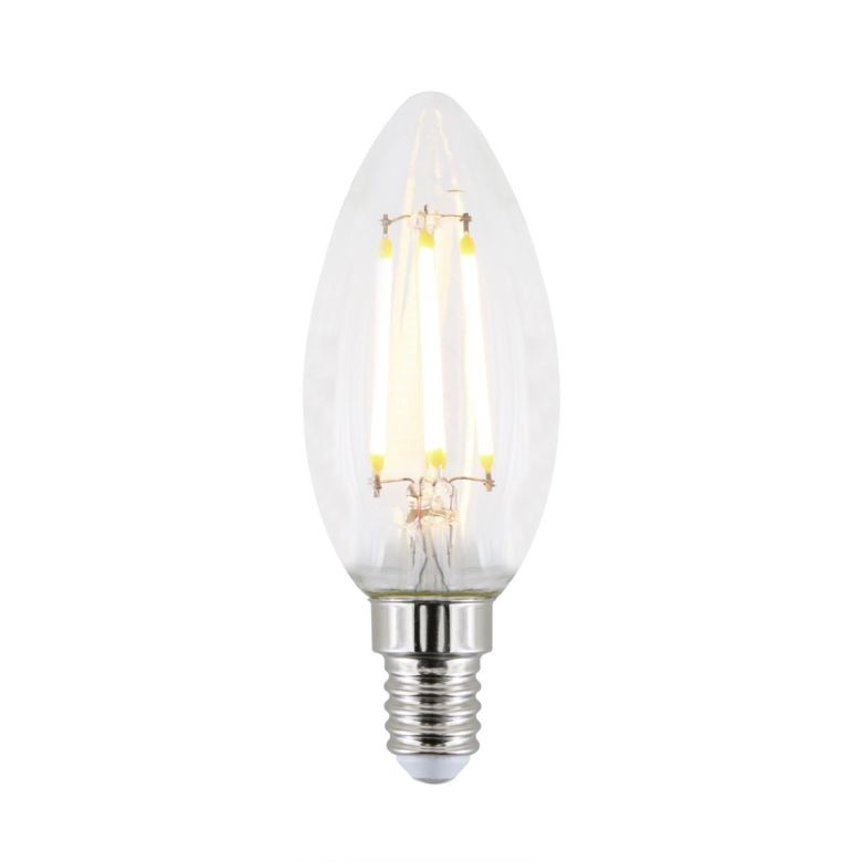 E14 4.8W LED dimmable candle light bulb 9.7cm