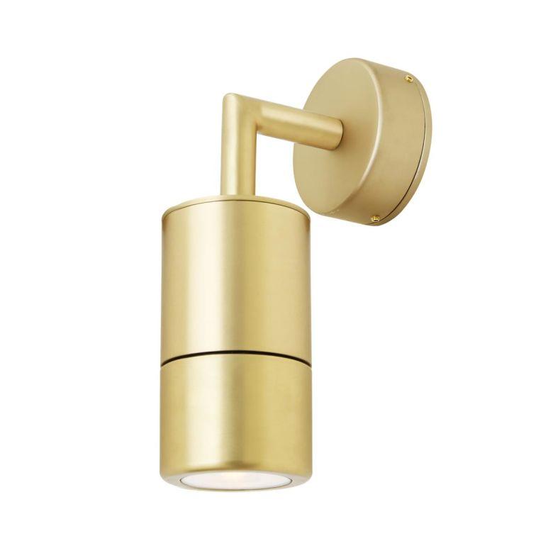 Ennis Brass Spot Bathroom Wall Light IP44 / IP65