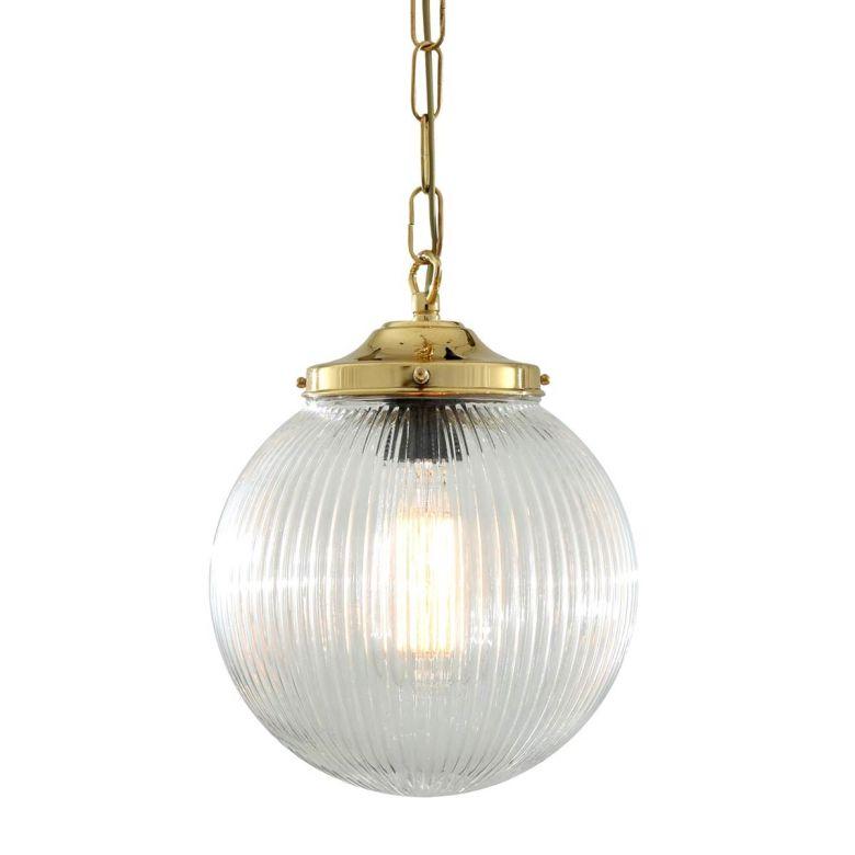 Fitzroy holophane globe pendant light 20cm
