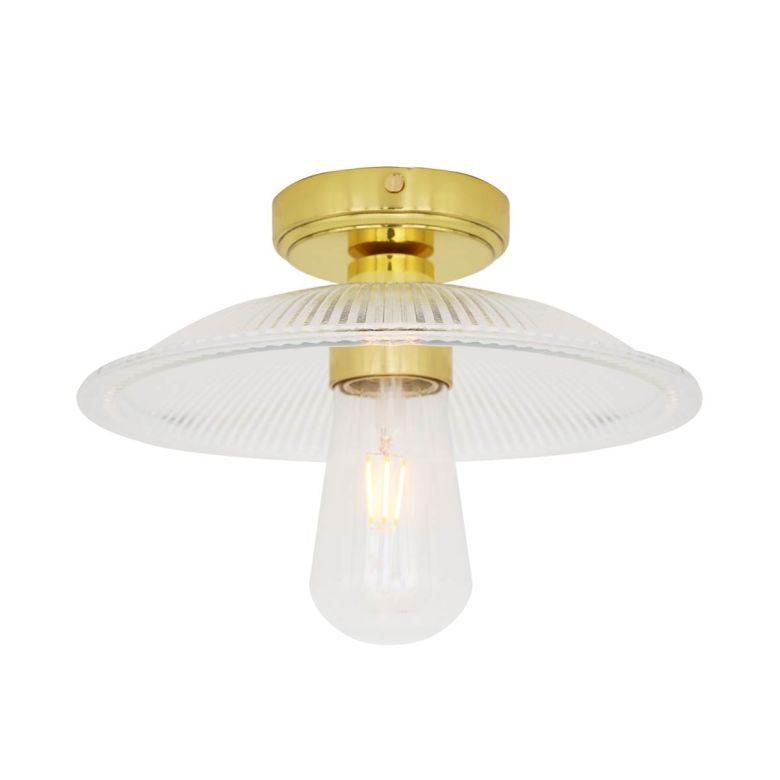 Gal Prismatic Bathroom Ceiling Light 30cm IP65