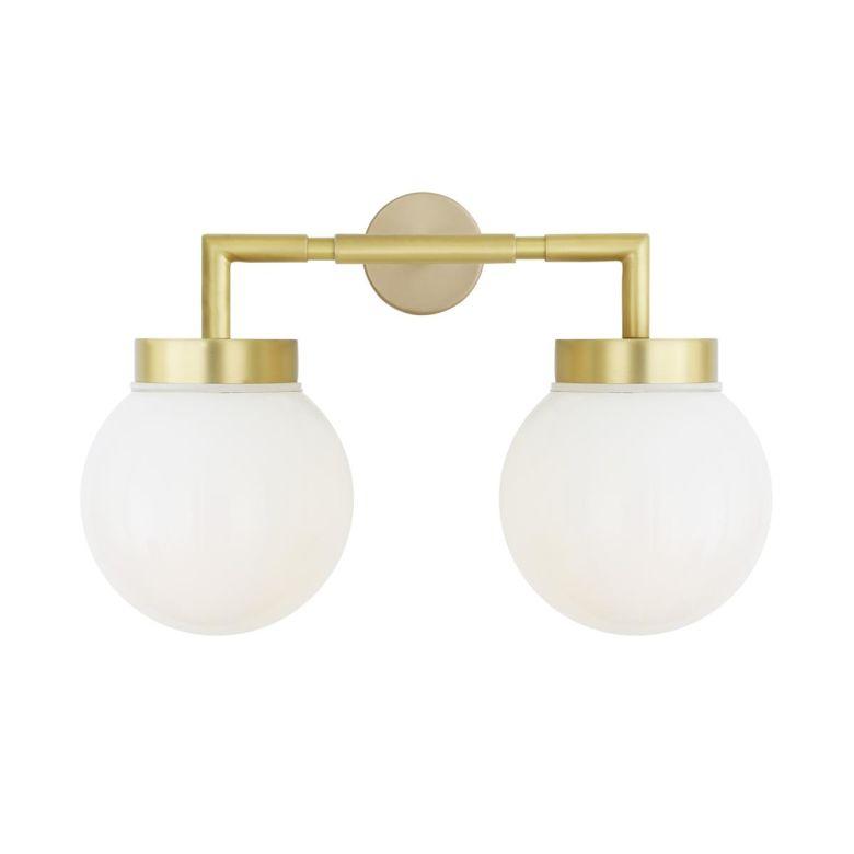 Jordan Double Glass Globe Bathroom Wall Light IP65
