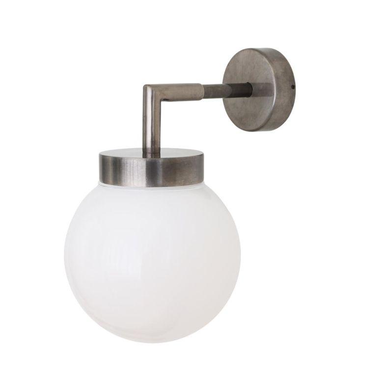 Jordan Clear / Opal Globe Wall Light 15cm IP65