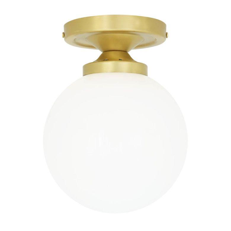 Yaounde flush globe ceiling light