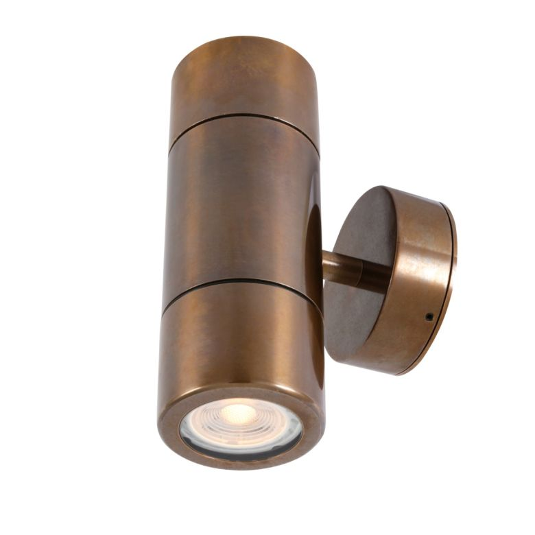 Lana Up / Down Brass Bathroom Wall Light IP44 / IP65