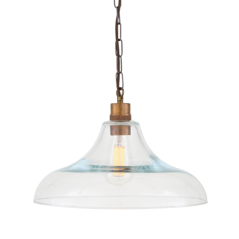 Clifton Railway Clear Glass Pendant