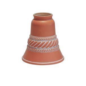 Terracotta ceramic bell lamp shade 12cm