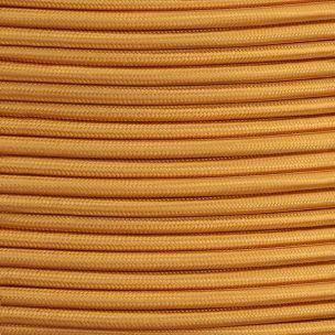 Câble tressé en tissu doré, rond à 2 conducteurs