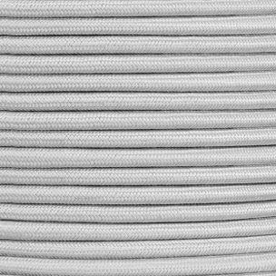 Câble gris flexible rond et tressé à 2 brins