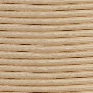 Câble ivoire flexible rond et tressé à 2 brins