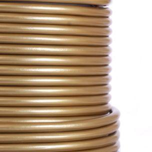 Gold PVC Flexible Cable, 3 Core