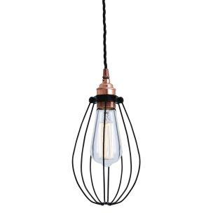 Abuja Industrial Cage Copper Pendant Light