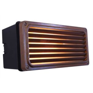 Agher Recessed Grill Patio Wall Light IP54