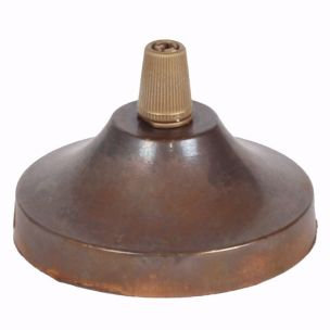 Rosace de plafond en laiton, concave avec serre-câble