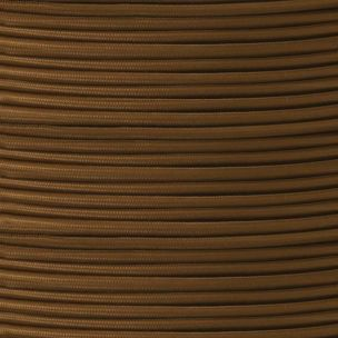 Brown Fabric Braided Cable, 3 Core Round