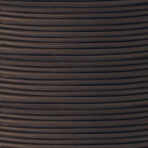 Brown Fabric Braided Rubber Cable, 2 Core