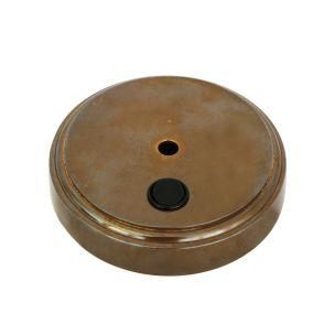 Cast brass wall bracket with switch 12cm